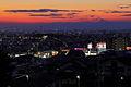 Evening view from Takinomizu Park, Midori Ward Nagoya 2011.JPG