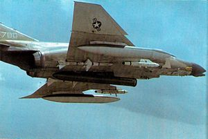 PAVE - An early Pave Sword laser pod on a F-4D during the Vietnam War, 1971.