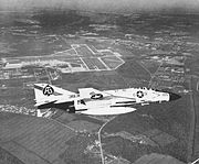 A VF-41 F-4J over NAS Oceana in the late 1960s