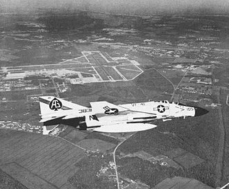 Naval Air Station Oceana - A VF-41 F-4J over NAS Oceana in the late 1960s