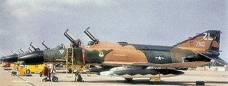 Ching Chuan Kang Air Base - Image: F 4c 64 0750 44tfs 18tffw atcck 2oct 73