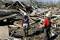 FEMA - 39600 - Working dog searches debris for missing persons in Bolivar, Texas.jpg