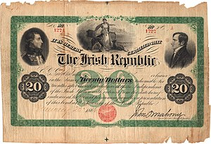 Fenian Brotherhood - Twenty dollar Fenian bond.