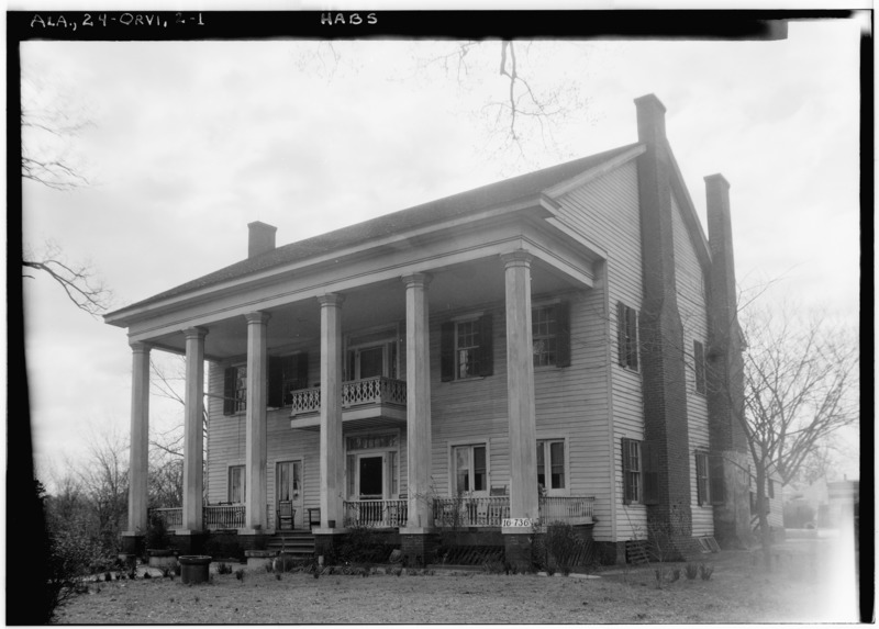 File:FRONT VIEW. - Mill-Albritton House, State Highway 22, Orrville, Dallas County, AL HABS ALA,24-ORVI,2-1.tif