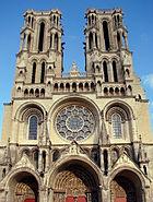 Façade Cathédrale de Laon 14 09 08 2