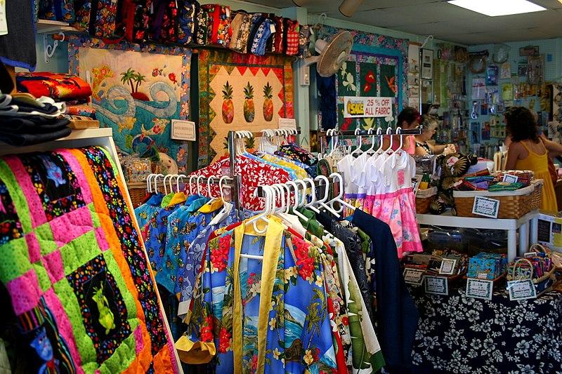 File:Fabric shop Hilo, Hawaii.jpg