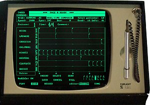 "Fairlight CMI - ""Page R"" and light pen on Fairlight CMI Series II"