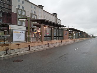 Fairview Avenue station - Fairview Avenue in 2014