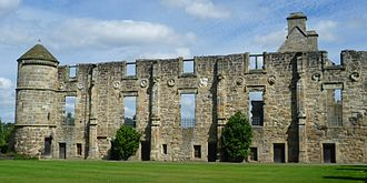 James V of Scotland - The ruins of James's palace in the French Renaissance style at Falkland
