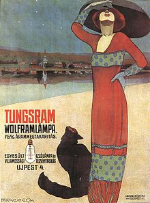 Poster About Tungsram Filaments Hungary Ca1910