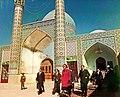 Farah Pahlavi in Al-Hamza Mosque of Kashmar 2.jpg