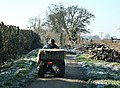 Farm vehicle at Catridge - geograph.org.uk - 703549.jpg