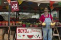 Farmer James Boyd sells the fruits (and vegetables) of the field at this roadside produce market in Hearne, a small town in Robertson County, Texas LCCN2014633921.tif