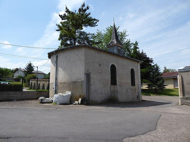 Chapelle du château de Faulx en Meurthe-et-Moselle (France).
