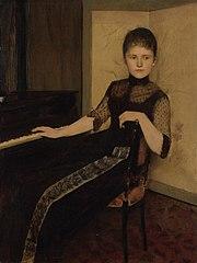 Portret van jonkvrouwe Maria Francisca Louisa Dommer van Poldersveldt (Ubbergen 1848 - 1925 's-Hertogenbosch)