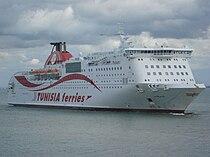 Ferry Carthage (CTN) entrant au Port La Goulette (Tunisie).jpg