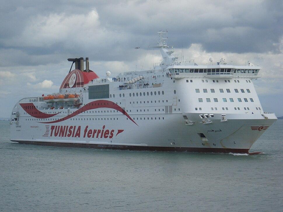 Ferry Carthage (CTN) entrant au Port La Goulette (Tunisie)