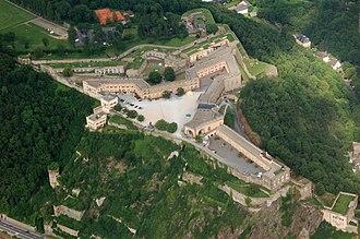 Ehrenbreitstein Fortress - Aerial view