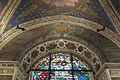 Filippo lippi, affreschi del 1452-65, stemma di prato e vetratat del lippi.JPG