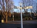 Fingerpost on the corner of Village Road, Bush Hill Park - geograph.org.uk - 2666304.jpg