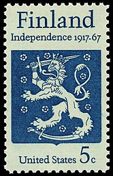Finnish Independence 50th Anniversary 5c 1967 issue U.S. stamp.jpg