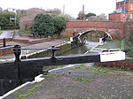 Firepool Lock, where the canal joins the River Tone
