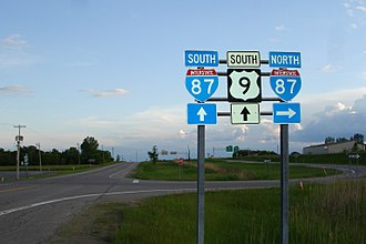U.S. Route 9 - Image: First Northern US 9 I87 Reassurance Marker