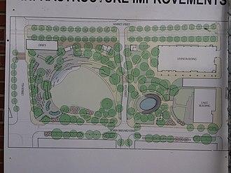 First Ward Park (Charlotte, North Carolina) - Image: First Ward Park Construction Diagram Closeup