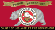 Flag of the Los Angeles County Fire Department