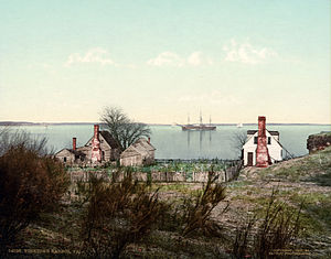 Flickr - …trialsanderrors - Yorktown harbor, Virginia, 1903.jpg