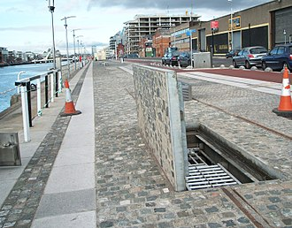 Liffey Service Tunnel - An access cover near the northern end of the tunnel