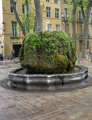 English: Fountain on the Cours Mirabeau' in Ai...