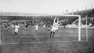 Just Göbel - Image: Football at the 1912 Summer Olympics Holland v.s. Sweden