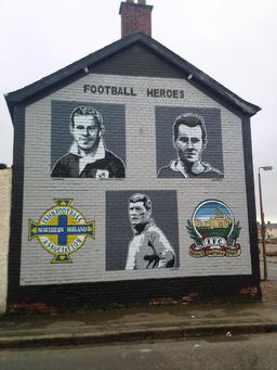 Football heroes mural