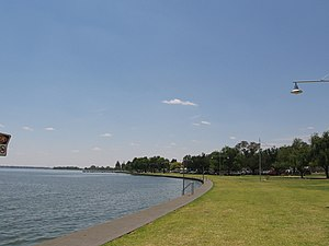 Yarrawonga, Victoria - Foreshore of Lake Mulwala at Yarrawonga.