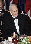 "Former Major League Baseball Pitcher Leland ""Lou"" Brissie, is honored, during the 149th Annual Regimental Signal Ball, at the Fort Gordon Club, in Fort Gordon, Ga., June 26, 2009 090626-A-NF756-006.jpg"