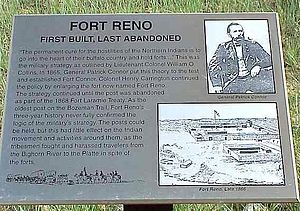 Fort Reno (Wyoming) - Fort Reno marker