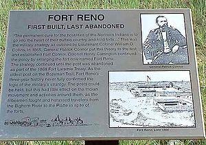 Fort Reno (Wyoming) - Fort Reno marker