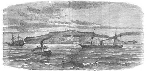 Fort Winthrop - Late 19th-century engraving showing a view of the fort from Boston Harbor