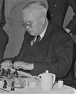 Ludwig Rellstab (chess player) - Rellstab at the German Chess Championship, Hamburg 1953