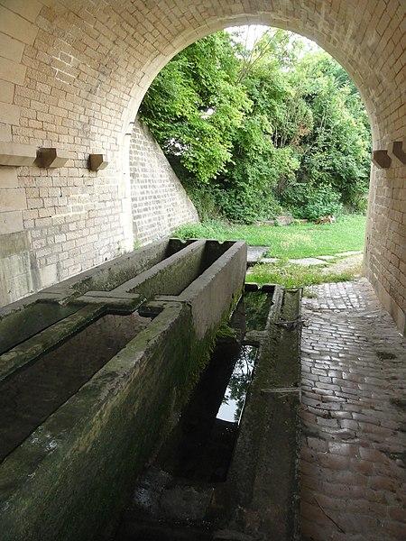 Foug (Meuse) lavoir sous viaduc