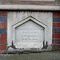 Foundation Stone, James Baker's Boot Factory, Wolverhampton - geograph.org.uk - 1105453.jpg