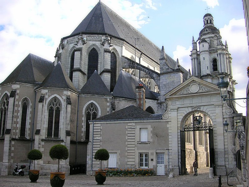 France, Blois Cathedral from the east