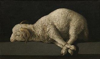 Lamb of God - Zurbarán Agnus Dei, Prado Museum, c. 1635–1640