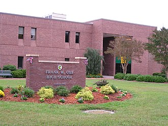 Frank W. Cox High School - The current building of Frank W. Cox High School