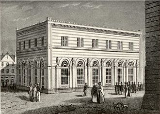 Free City of Frankfurt - The Alte Börse (Old Stock Exchange) in 1845