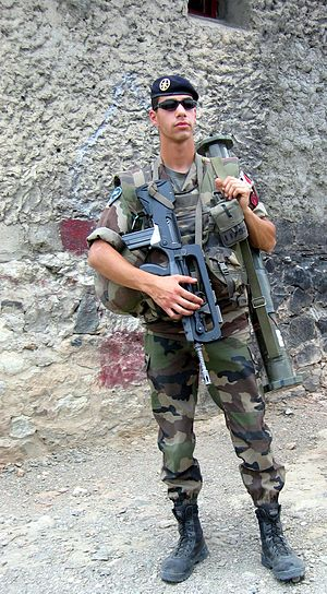 35th Infantry Regiment (France) - Soldier of the 35th Infantry Regiment in Afghanistan.