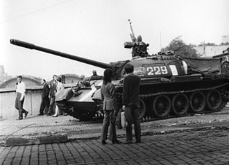 8th Tank Army - A T-55 during Operation Danube