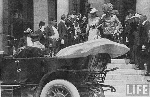 Franz Ferdinand & Sophie Leave Sarajevo Guildhall