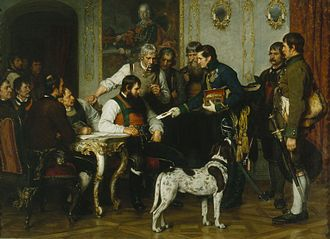 Innsbruck - Andreas Hofer with his Consultants at the Hofburg by Franz Defregger, 1879